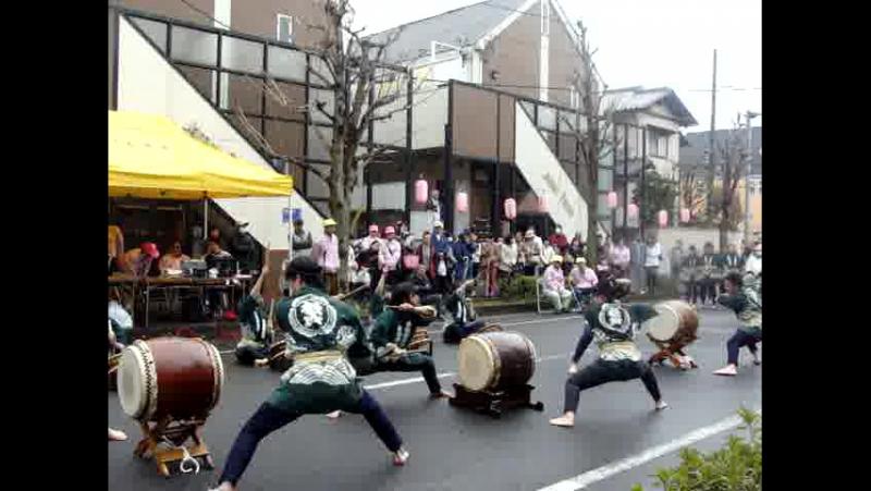 музыка японских барабанов тайко