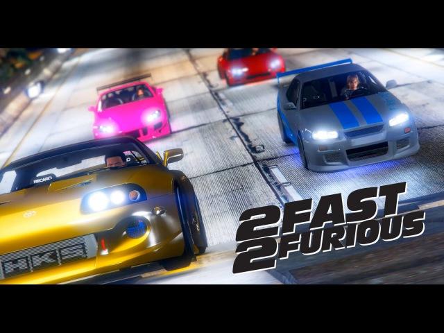 GTA 5 2 Fast 2 Furious Bridge Jump