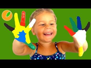 Сабрина рисует красками пальчиковые краски для малышей — #Дети #Sabrinka 64