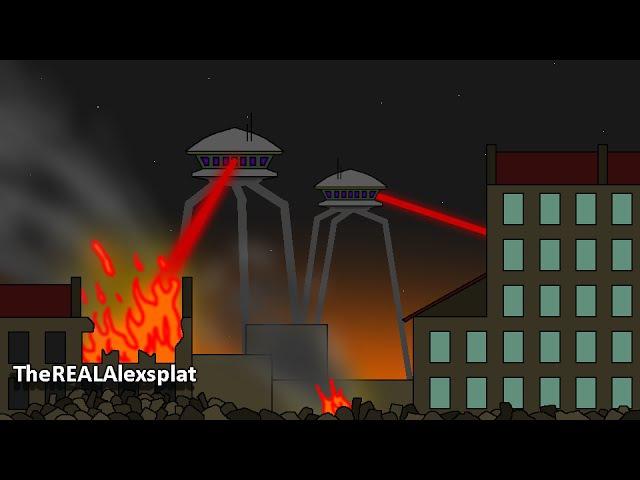 Pivot Alien Invasion Fight War Animation series 1 (full version)