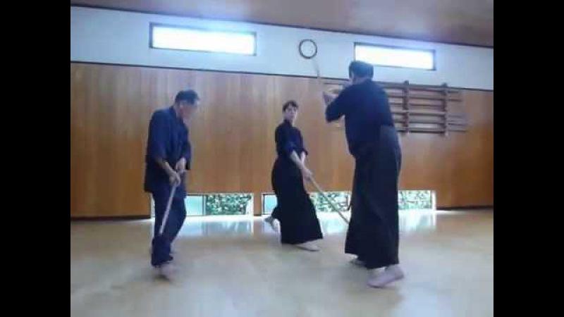 Otake Sensei and Jeffrey Balmer teaching Nanatsu to new student at the shinbukan