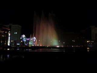 Самый высокий фонтан Р.Ф на площади 1000 летия в Саранске