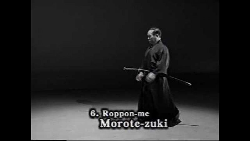 Iaido Kata Seitei 06 Roppon me Morote zuki High quality