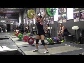 Alyssa Sulay (63kg) OTM Snatch, Blake Barnes (69kg) OTM Clean