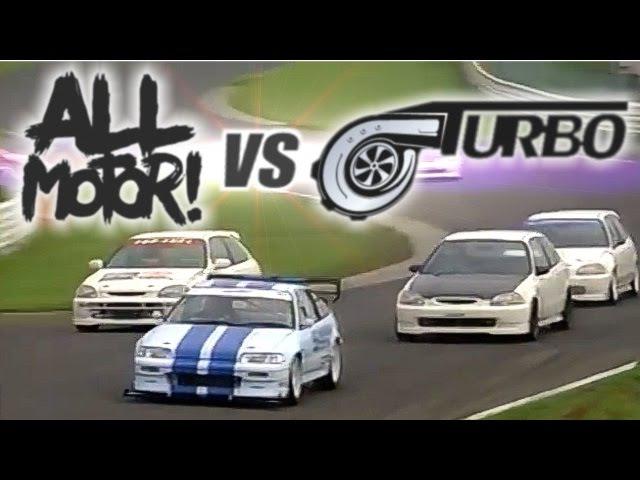 [ENG CC] N/A vs. Turbo - the ultimate Civic EK battle Tsukuba HV34