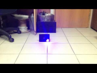 Пурпурный мощный лазер