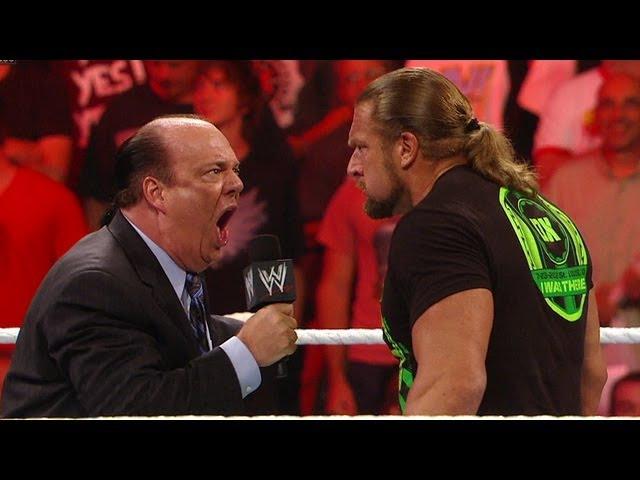 Paul Heyman accepts Triple H's SummerSlam challenge Raw July 23 2012