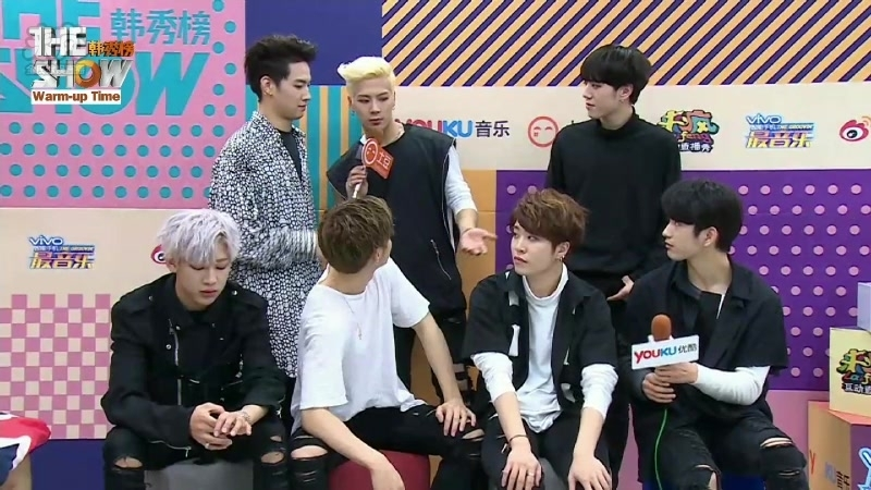 161011 Warm-up Time with GOT7 @ Minilive <THE SHOW>