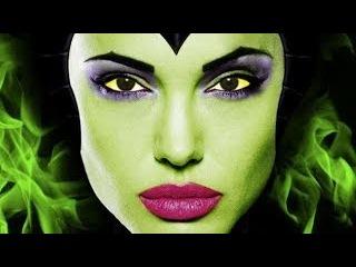 Maleficent Make up Transformation, малефисента макияж трансформация