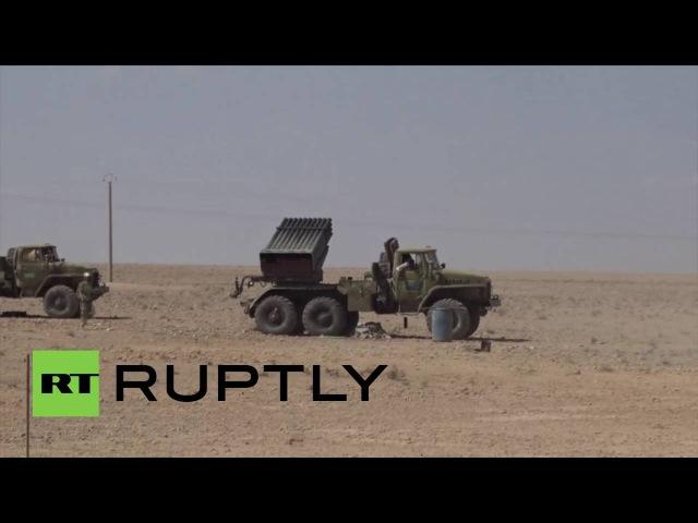 Сирия Дрон показывает Сирийской армии, захватив Исламского Государства контролируемой территории.