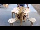 Раскладная садовая мебель трансформер стол с 4 я стульями