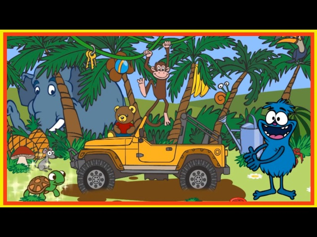 Kids English   Clown Choocha Funnyboy - JUNGLE STORY! - Interactive Cartoon Games!