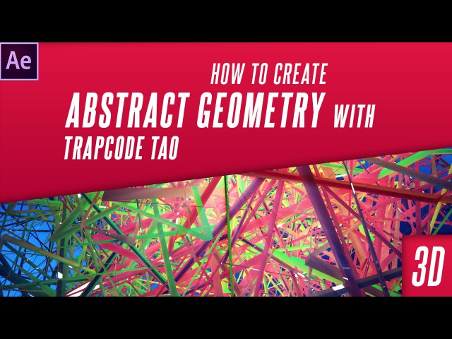 After Effects Tutorial : Trapcode Tao Abstract Design