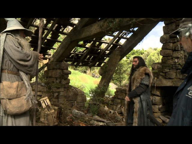 The Hobbit Behind the scenes Thorin Fili and Kili