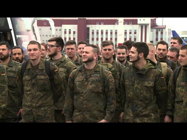 Pratyboms į Lietuvą atvyko Vokietijos rotacinių pajėgų kariai