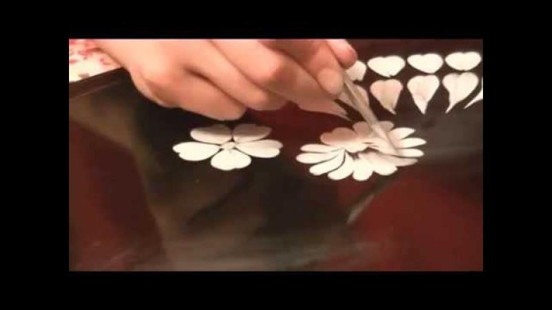 Жостовская роспись или как наносить мазки в росписи