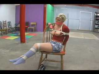 Nikki lee young tied and gagged in socks