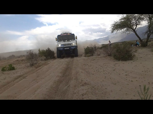 Dakar 2017 en rio santa Maria tomado con mi celu