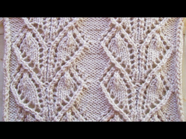 Ажурные широкие дорожки Вязание спицами Видеоурок 108