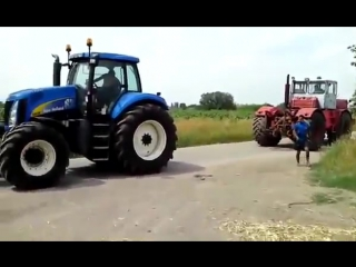 Битва тракторов - new holland t8030 vs к-701 кировец, кто кого