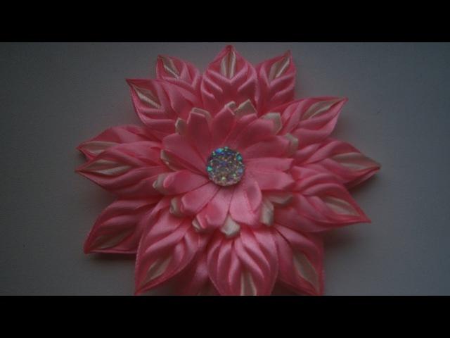 Нежный цветок из узкой ленты 0,6 см, МК./Flowers of the narrow strip is 0.6 cm, MK.