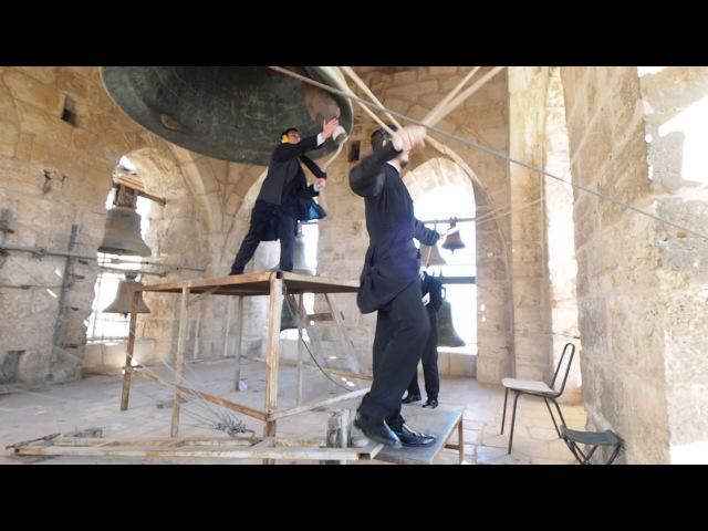 Храм Гроба Господня (Иерусалим). Звонят колокола Храма — 7 января 2017 г.