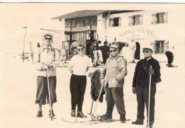 Провідник ОУН із друзями в Альпах. Зліва направо:..   Дмитро ...