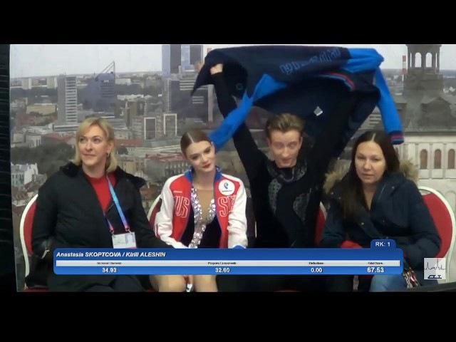 9 Anastasia SKOPTCOVA Kirill ALESHIN RUS 2017 TA⅃⅃INN TROPHY JUNIOR Ice Dance SD