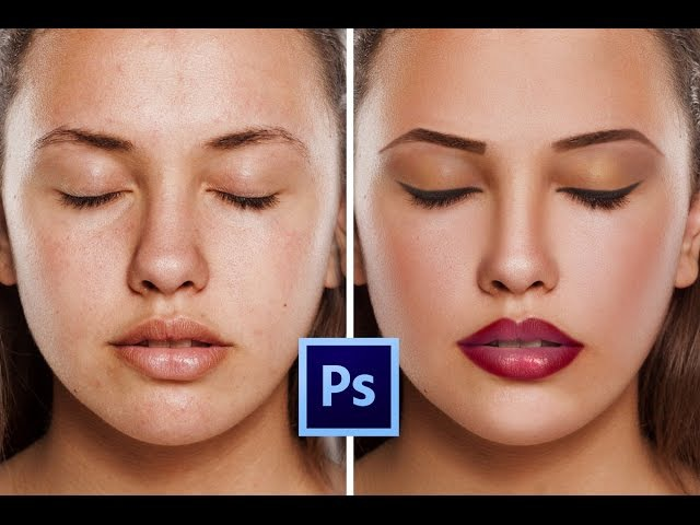 Photoshop CC Tutorial: How to retouching Skin make makeup Easily