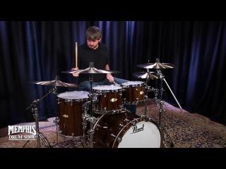 Pearl Masterworks Drum Set 22/10/12/16 - Black Mist over Zebrawood