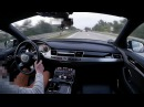 Audi A8L vs Motocyclist some fun on german autobahn onboard POV real life story