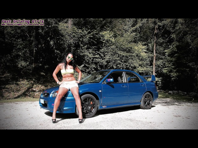 Fast Driving Girls Sara Subaru Impreza Hillclimb II V073 High heels