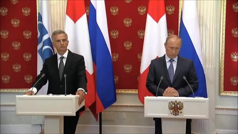 Звук не нужен. Пресс-конференция Путин - Буркхальтер (2014)