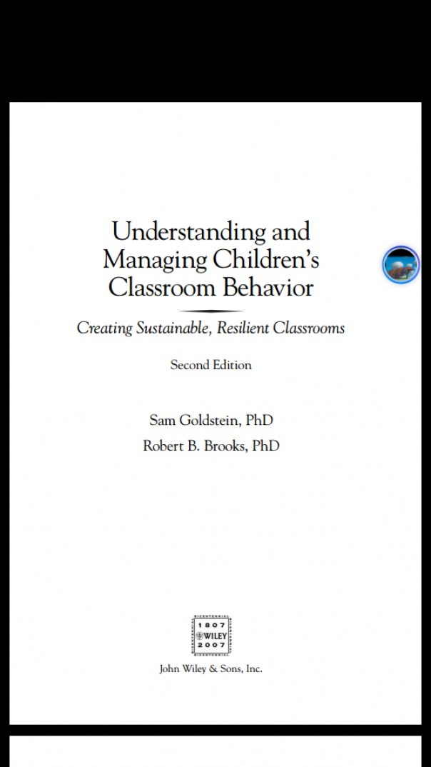 Understanding and managing children behaviour in class rooms
