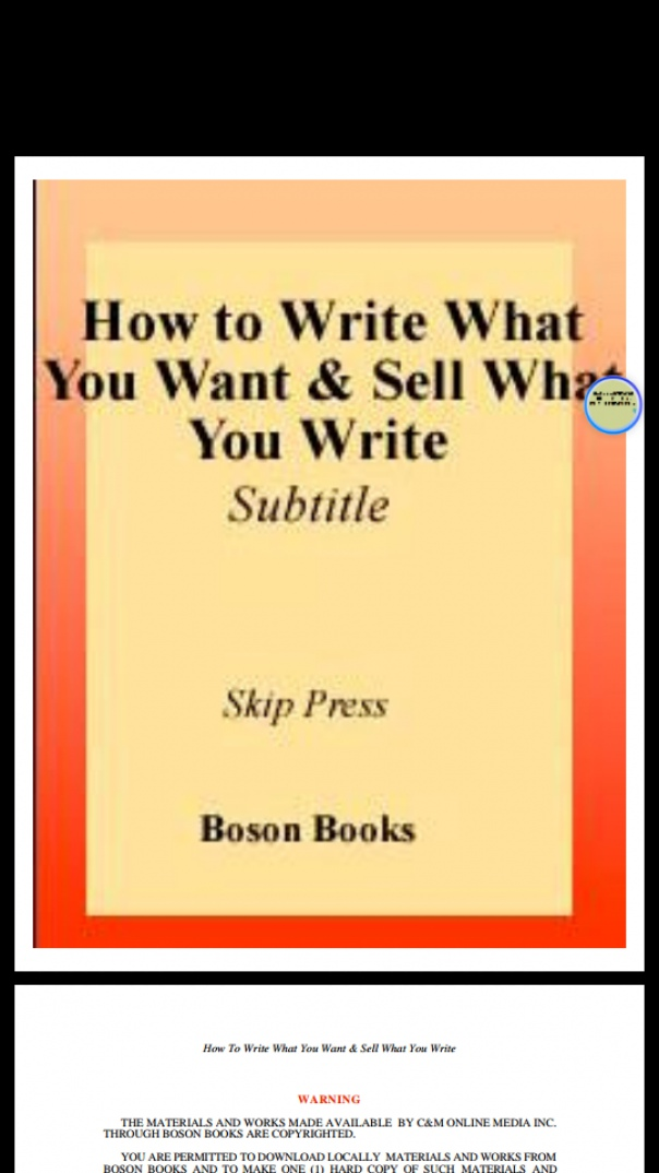 How To Write What You Want and Sell