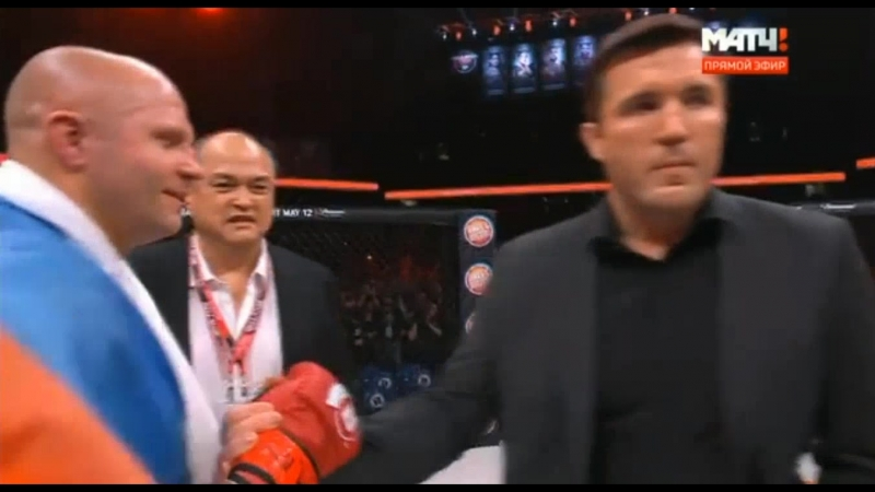 Федор Емельяненко слова после победы Дуэль взглядов с Чейлом Сонненом