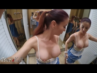 Hot girl filming herself naked and masturbate in a public fitting room _ wetkell [hd, 2018]