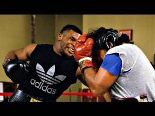 Mike tyson - no head gear sparring 1987