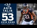 NFL Top 100 Players of 2018 53 Aqib Talib CB Rams