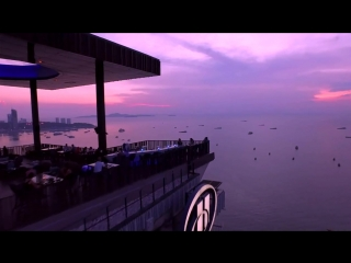 Horizon rooftop restaurant and bar at hilton pattaya, thailand