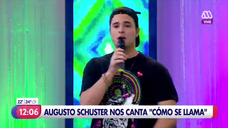Augusto Schuster presentó su nuevo single ¿Cómo se llama en el MuchoGusto