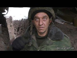 Интервью с ополченцей сегодня, Дебальцево, (перед боем)