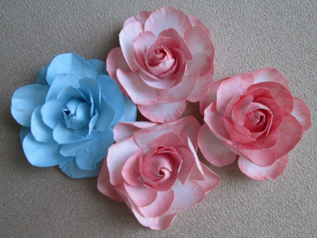 Скрапбукинг Цветы из бумаги с закрытым бутоном Видео мастер-класс как сделать розу