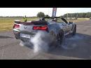 Chevrolet Corvette C7 Z06 - Burnout Drag Racing!