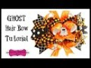 How to Make a Ghost Hair Bow - Halloween Hair Accessories - Hairbow Supplies, Etc.