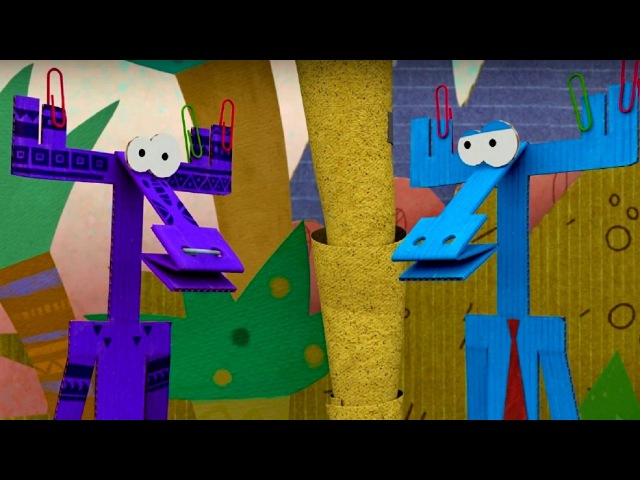 Бумажки - Сборник серий про путешествия Ари и Тюк-Тюка! ❤✍✂📏- мультфильм про оригами для детей