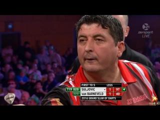 Mensur Suljovic vs Raymond van Barneveld (Grand Slam of Darts 2016 / Group F)