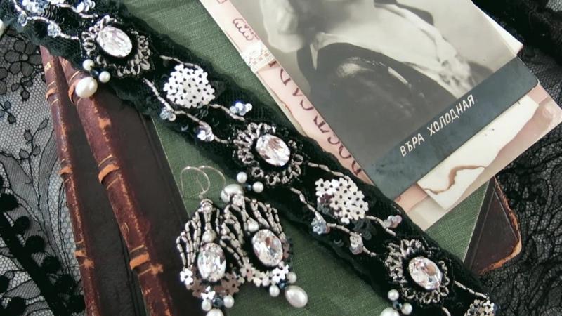 Авторский комплект украшений Королева экрана Надежда Малкина Queen Of The Screen