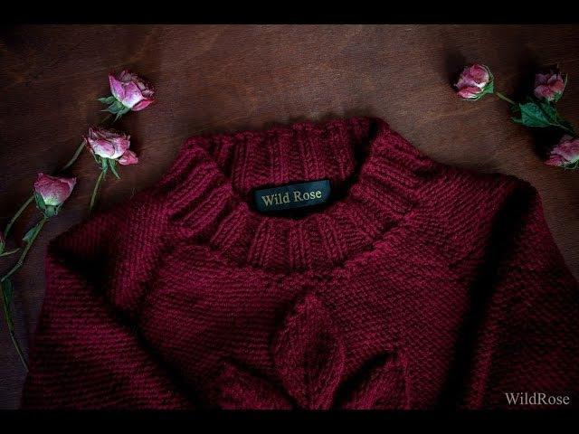 Эластичное закрытие петель спицами с помощью накидов ♥ Вяжем спицами ♥ Wild Rose ♥
