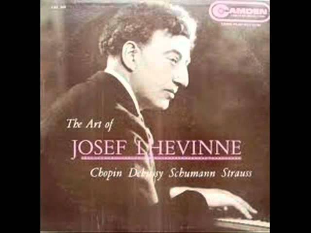 Josef Lhevinne plays Strauss Schulz Evler Blue Danube
